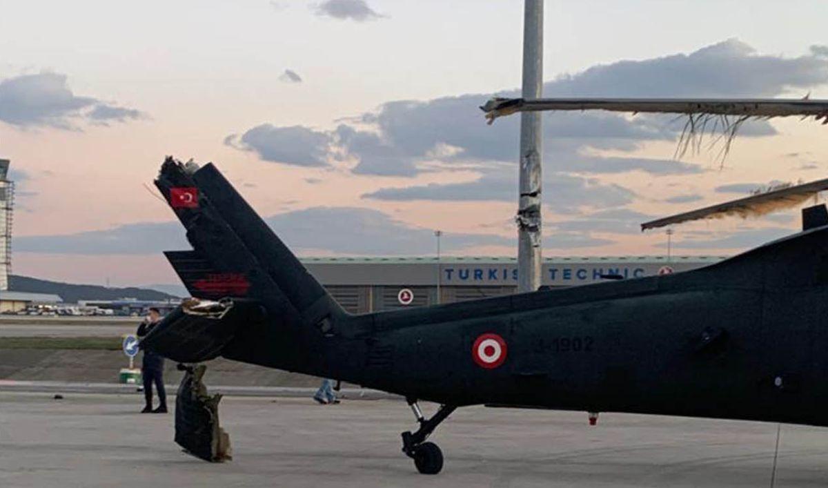 τουρκικό ελικόπτερο ζημιά