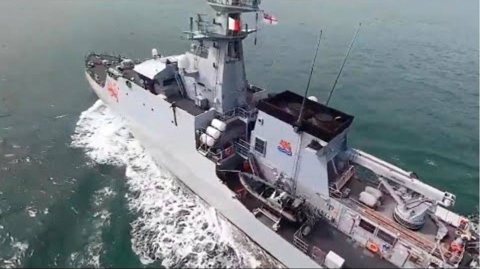 On board HMS Tamar