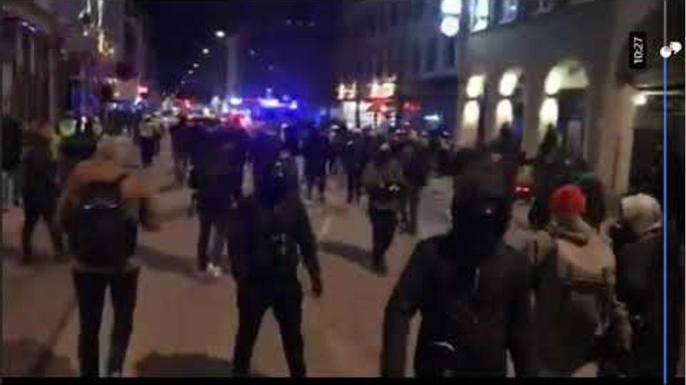 Denmark Rådhuspladsen Copenhagen Men in Black Demonstration 2021- Part 3