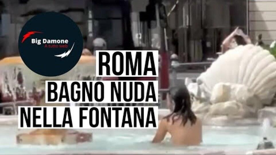 📢 Roma: donna fa il bagno completamente nuda nella fontana di Piazza Colonna davanti ai poliziotti!