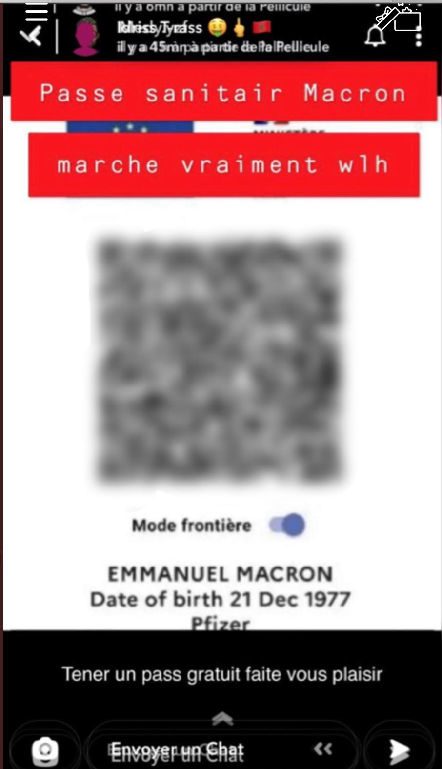 Εμανουέλ Μακρόν - πιστοποιητικό εμβολιασμού